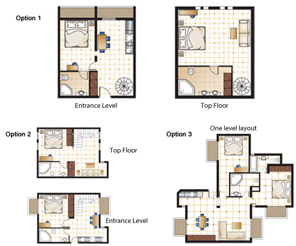 Floor plan for two bedroom apartment